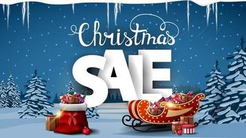 jul försäljning, rabatt banner vektor