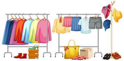 isolerade kläder på rackdisplayen