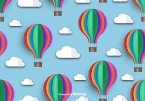 Hot Air Balloon Icon Vacker sömlös mönster