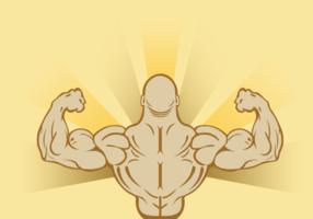 Flexing Man Hintergrund Vektor