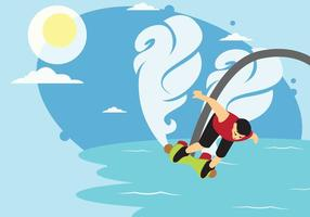 Extreme Flyboarding Wasserstrahl Vektor