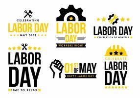 Labor Day Vector Element Design