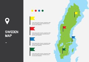 Schweden Karte Vektor