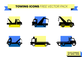 Abschleppen Icons Free Vector Pack
