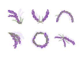 Freie schöne Wisteria Blumen Vektoren