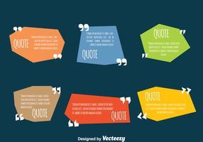 Farbige Testimonial Zitat Design Vorlage Vektoren