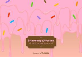 Erdbeerjoghurt tropft Hintergrund