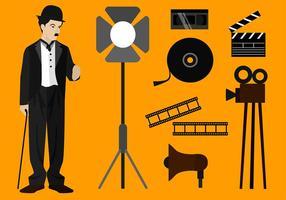 Charlie Chaplin Set Freier Vektor