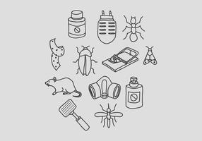 Schädlingsbekämpfung und Bug Elimination Vectors
