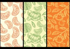 Clementine Muster Hintergrund vektor
