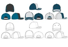 Den tomma Trucker Hat Vector Pack