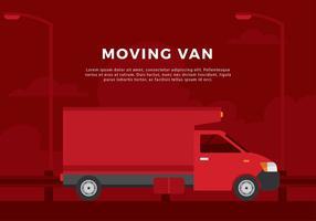 Verschieben von Van Free Vector