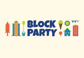 Block Partei Vektor-Illustration