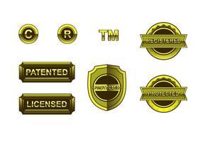 Gold Copyright Freier Vektor