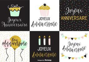 Joyeux Anniversaire Grußkarten