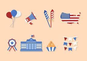 Flat USA Independence Day Vektoren