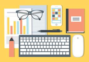 Free Office Schreibtisch Vektor Elemente