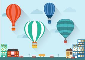 Flat Air Balloon Vector