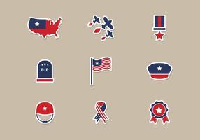 Memorial Day Icons Vektor