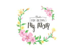 Netter vektorblumenrahmen mit Beschriftung für den Tag der Mutter Feiertag