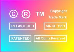 Copyright Patentierte Freie Vektor
