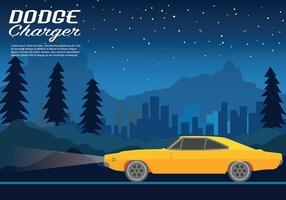 Dodge Charger Vektor Hintergrund