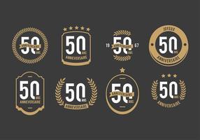 Kostenlose 50. Anniversaire Vektoren