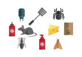 Exterminator Icon Set Vektor