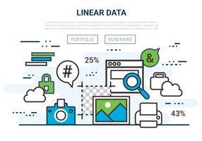 Freie flache lineare Vektor-Infografik