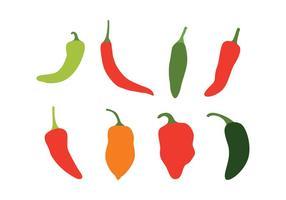 Chili Peppers Vektor Set