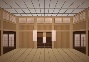 Inomhus Dojo-templet vektor