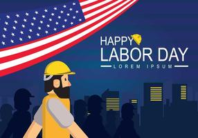 Gratis Labor Day Banner Illustration vektor