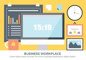 Free Business Workplace Vektor-Elemente