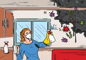 Mögel vektor illustration
