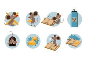 Freie Mäusefalle Cartoon Vektor
