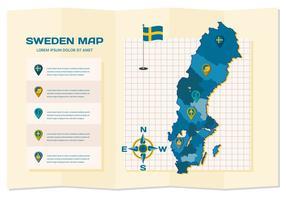 Gratis Sverige Karta Infographic vektor