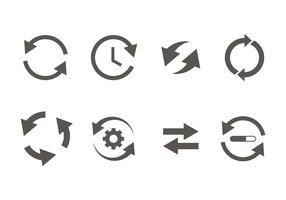 Glyph uppdateringsikon vektor