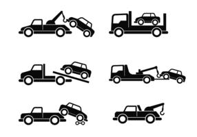 Abschleppen Auto Vektor