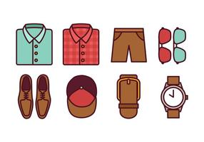 Männer Mode Icon Pack vektor