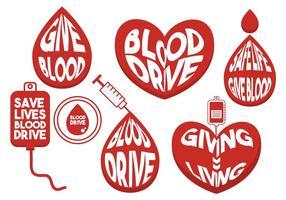 Blood drive vektor set
