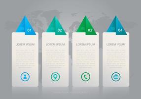 Vier Schritt Tel Infografische Vorlagen
