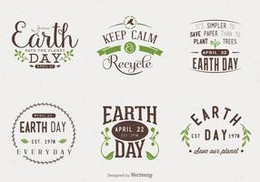 Tag der Erde Typografische Vektor-Designs