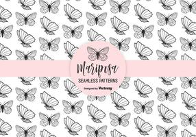 Mariposa Hand Drawn Seamless Vector Pattern