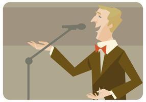 Mann singen Vektor