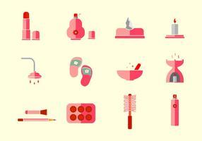 Skönhetsklinik och spa vektor