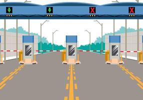 Mautstelle auf Autobahn vektor
