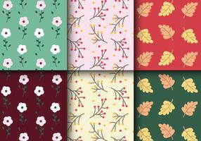 Freies Herbstblumenmuster vektor
