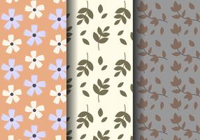 Freies Weinlese-Blumenmuster vektor