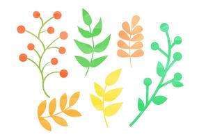 Gratis akvarell naturliga element vektor