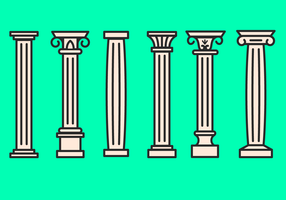 Korinthische Icon Vektor